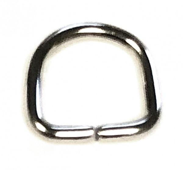D-Ring, Bandhalter, Steigbügel - Edelstahl - 1 Stück