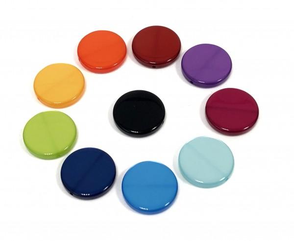 Polaris Coins 20mm glänzend - 10 Stück in verschiedenen Farben
