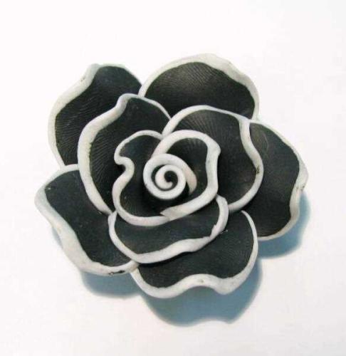 rose 40mm schwarz wei klar wei grau schwarz weitere perlen spacer nach farben. Black Bedroom Furniture Sets. Home Design Ideas