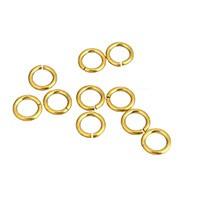 Bindering / Öse - Edelstahl - 6x1mm - 1 Stück offen - gold farbig
