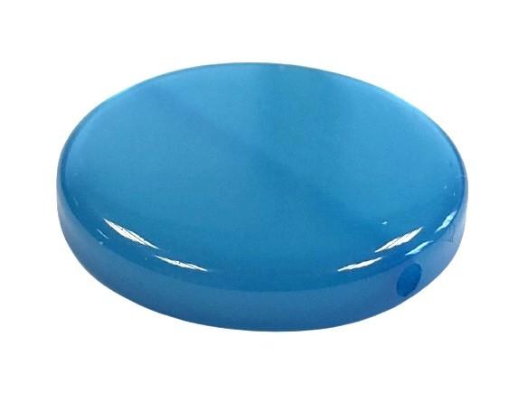 Polaris Coin 20mm blau glänzend