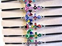 Unisex Armbänder verstellbar - Display mit 12 Stück - Motiv: Emaille Anker