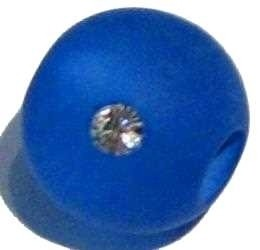 Polarisperle blau 10 mm - mit Swarovski-Kristall