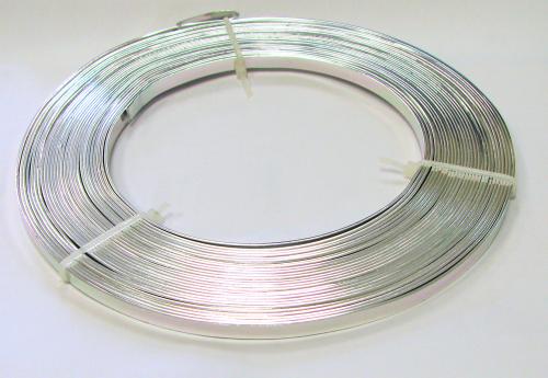 Aluminium-Flachdraht 5mm - 10 Meter - Farbe: silber   Aluminium ...