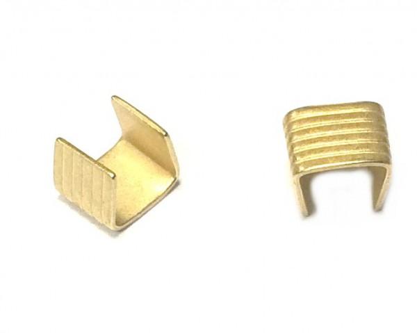 Crimphülsen - Crimpverbinder - 2 Stück - Farbe: gold matt