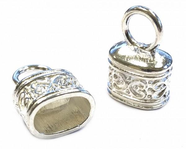 Endkappe für 2x5mm Bänder - für Armbänder, Charmketten etc.- 1 Stück